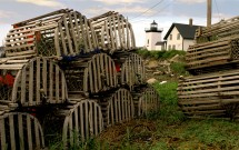 Lobster pots at Lighthouse