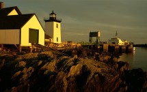 Grindle Point Lighthouse with ferry