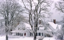 Kirstie's farmhouse in snow