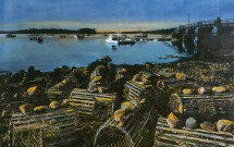 Lobster pots at Grindle Point
