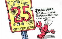 Island Road signs 25mph
