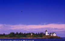 Indian Island Light with blue sky