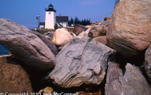 Rocks in front of Grindle Point Light, Islesboro